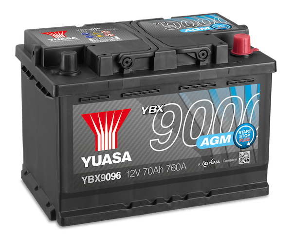 YBX9000 AGM battery for cars