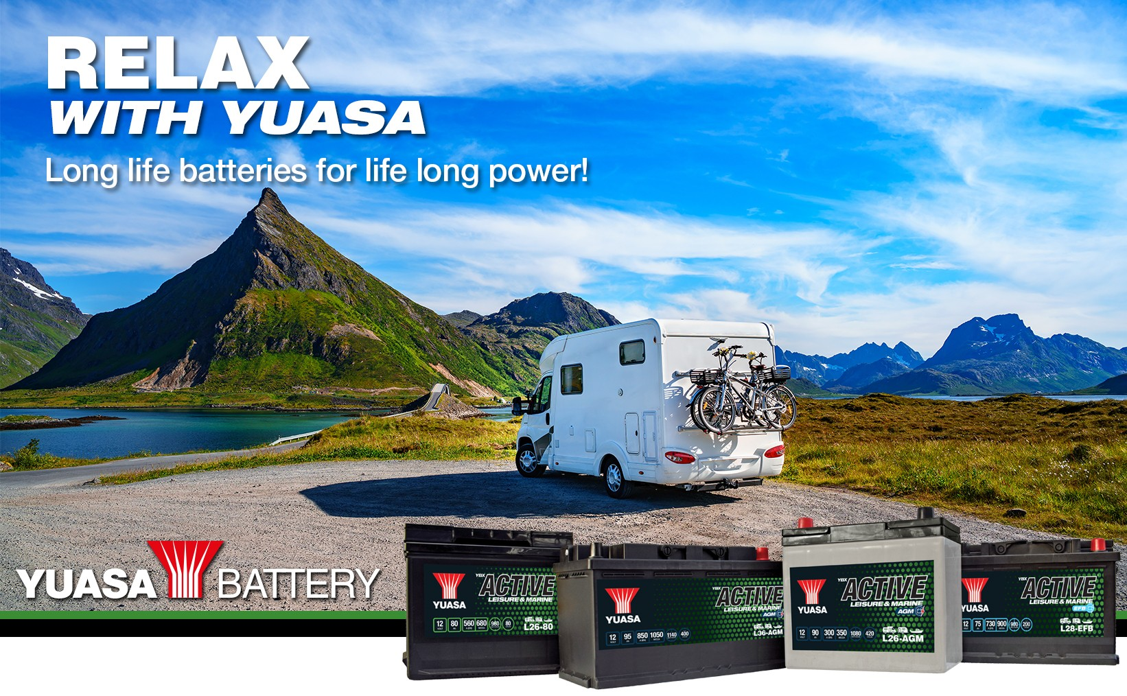 Long life batteries for life long power.
